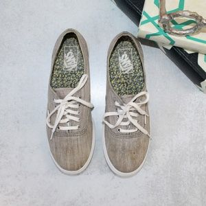 Vans Heather Gray Lace Up Sneakers W-9 M-7.5